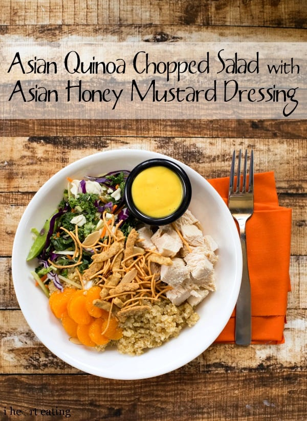 Asian Quinoa Chopped Salad with Asian Honey Mustard Dressing