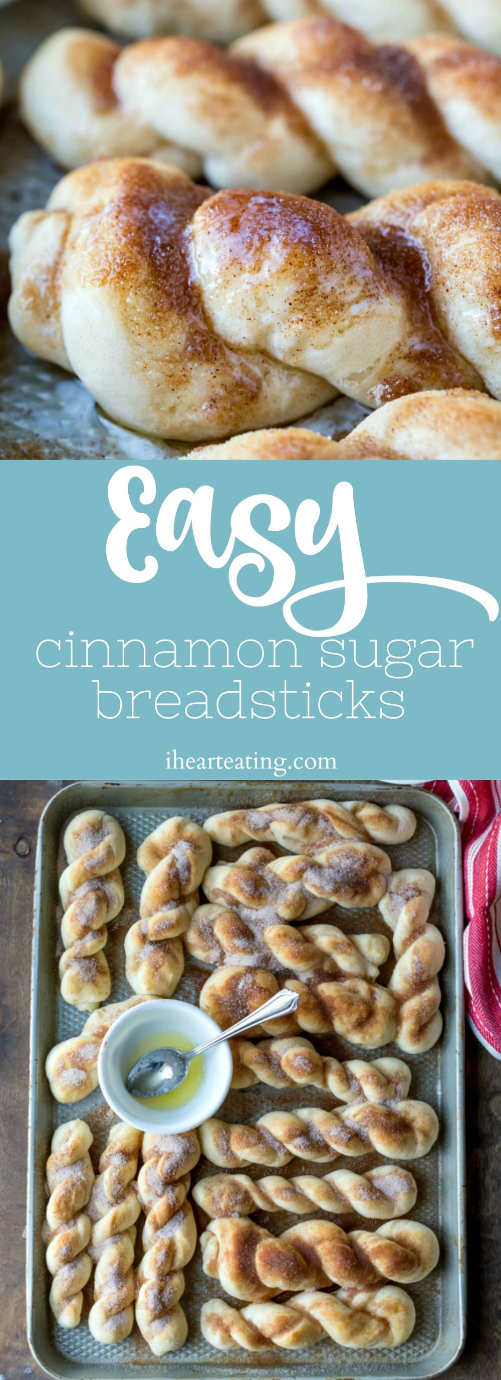 Easy cinnamon sugar breadsticks are made from scratch in just 1 hour! Dough is egg-free, dairy-free, and vegan.