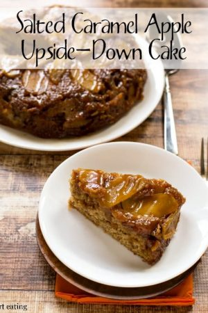 Salted Caramel Apple Upside-Down Cake