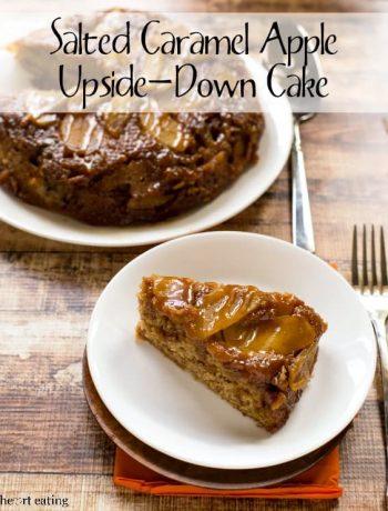 Salted Caramel Apple Upside-Down Cake