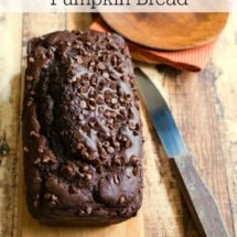 Chocolate Chocolate Chip Pumpkin Bread