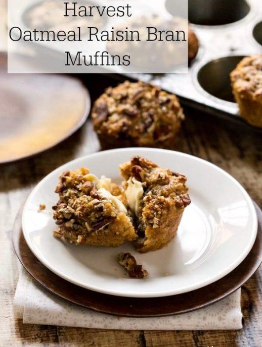 Harvest Oatmeal Raisin Bran Muffins