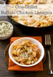 One-Skillet Buffalo Chicken Lasagna