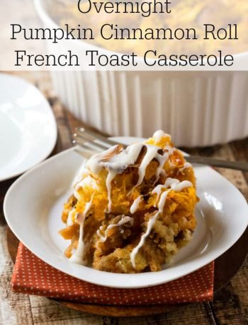 Overnight Pumpkin Cinnamon Roll French Toast