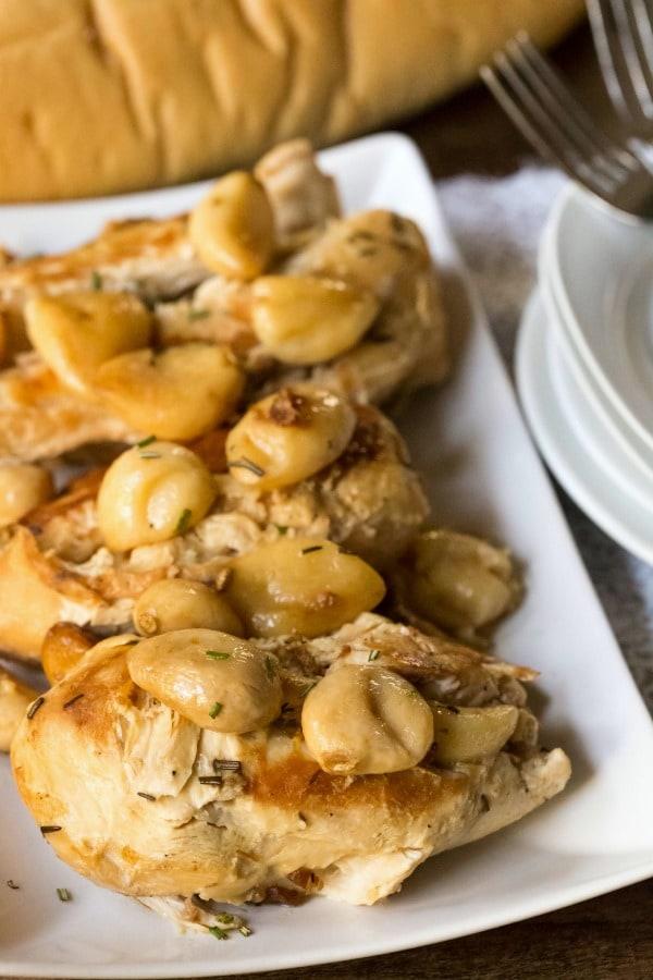 Slow Cooker Garlic Rosemary Chicken