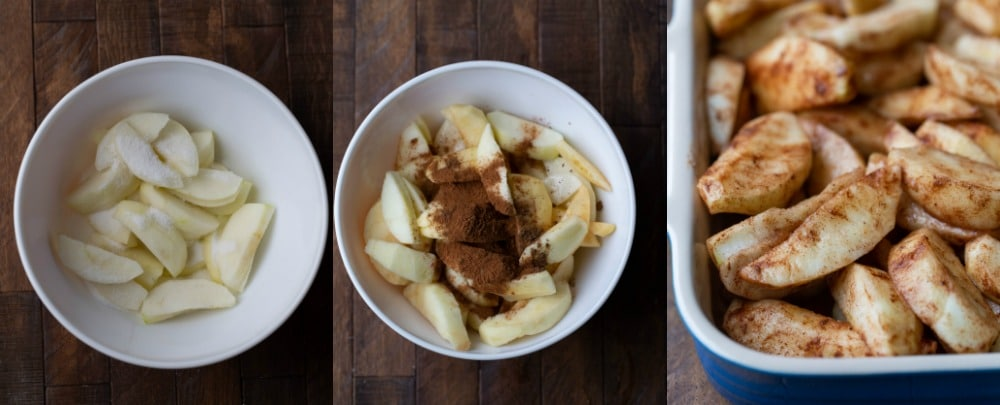 Apples and spices for apple crisp