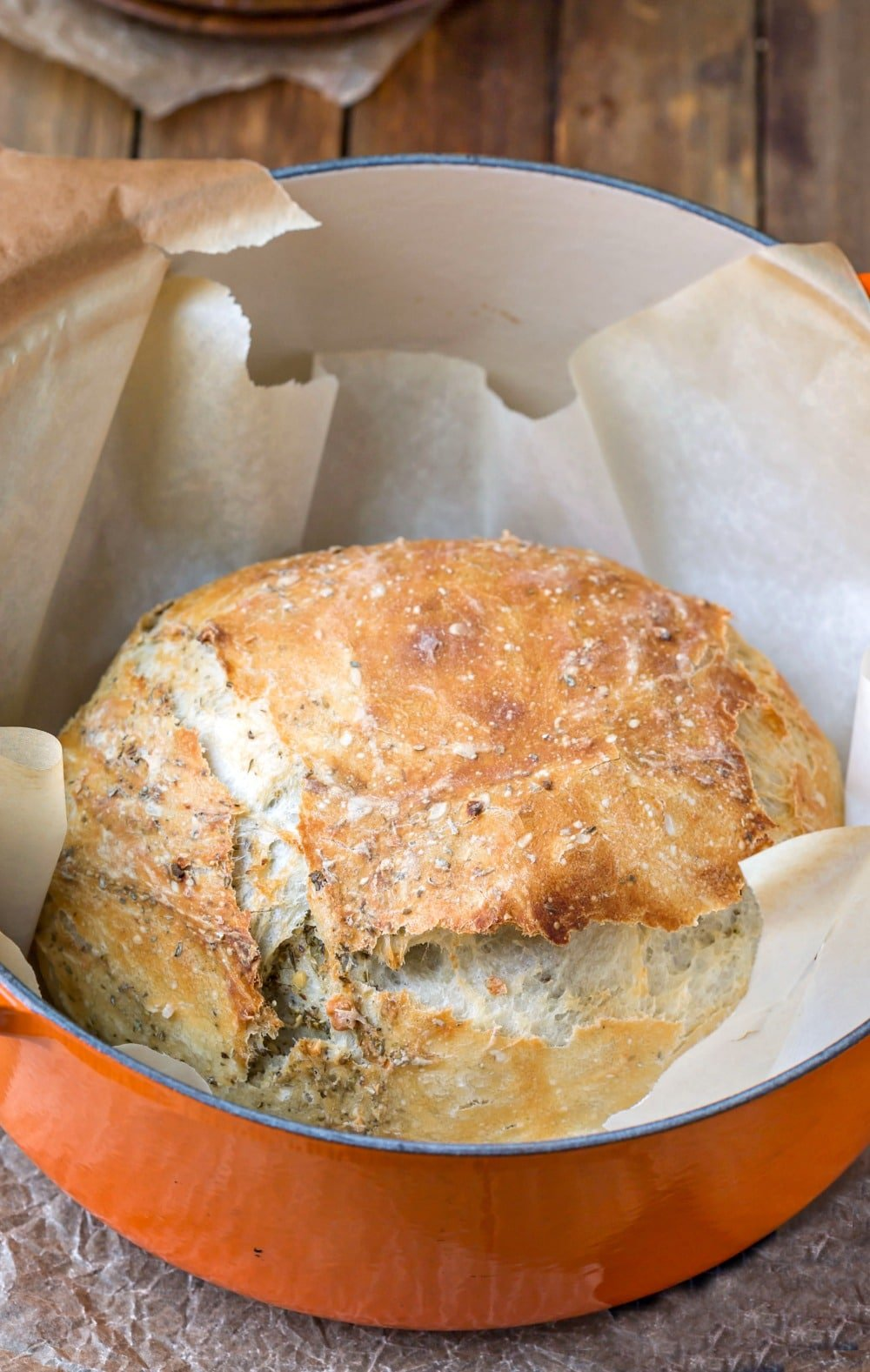 Garlic Herb No Knead Bread I Heart Eating
