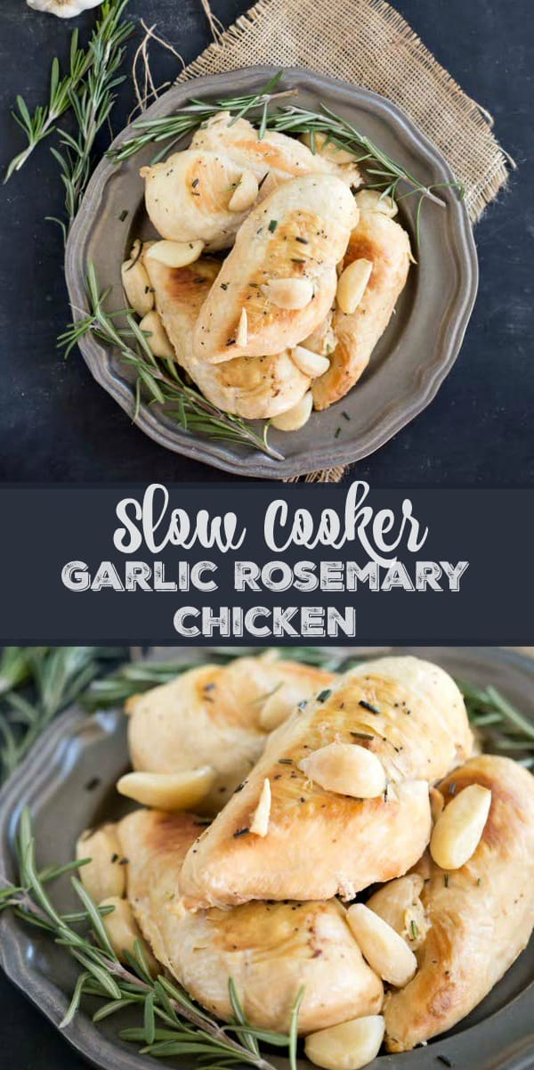 Slow Cooker Garlic Rosemary Chicken