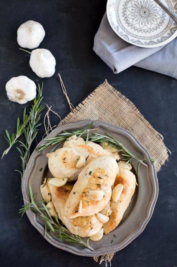 Slow Cooker Garlic Rosemary Chicken Recipe