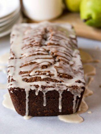 Gingerbread Loaf Cake with Apple Cider Glaze