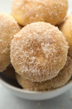 Eggnog Donut Muffins