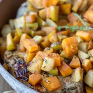 Pork Chops with Apples and Butternut Squash