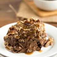 German Chocolate Cake Bread Pudding