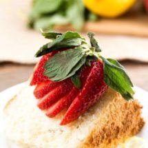 Lemon Basil Chiffon Cake