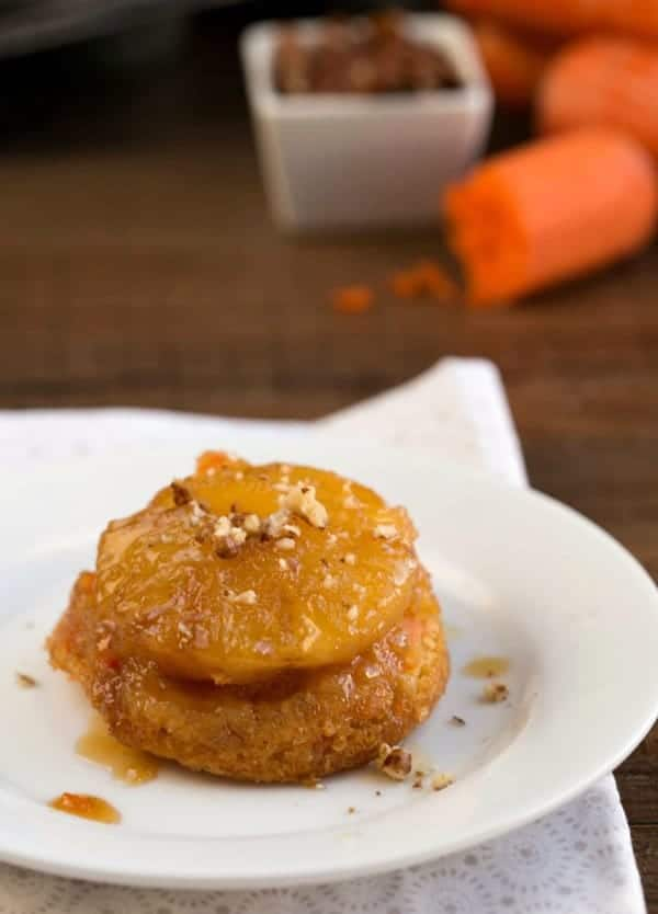 Pineapple Upside-Down Carrot Cupcakes