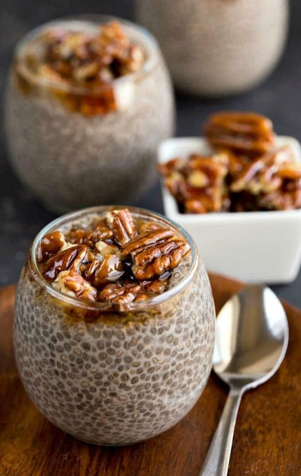 sticky bun chia seed pudding i heart eating