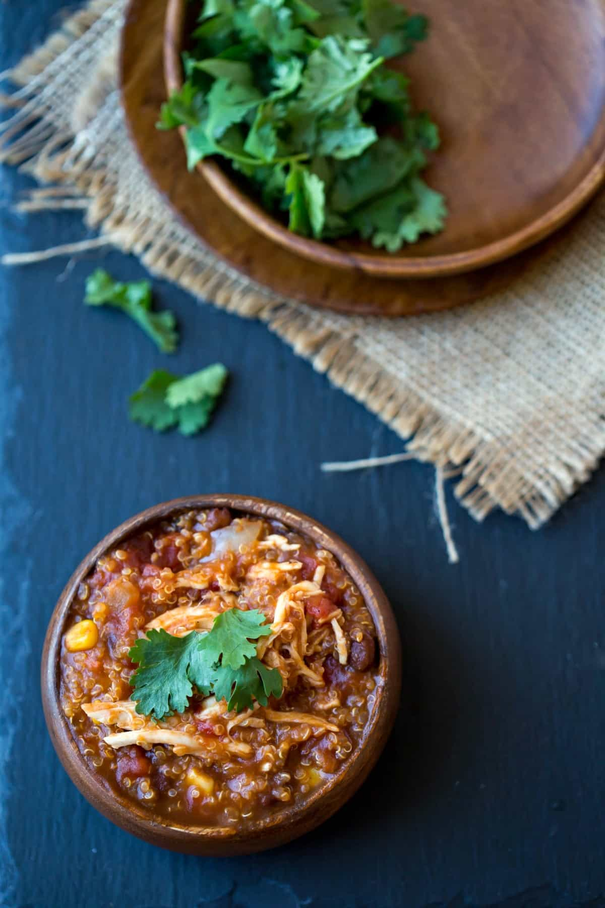 Slow Cooker Barbecue Chicken Quinoa Chili