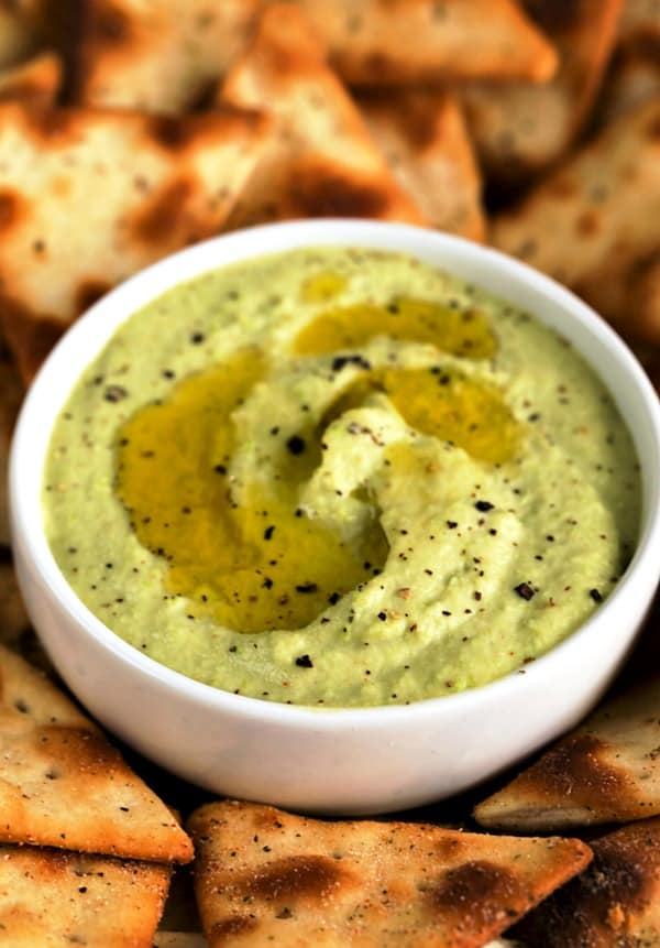 Roasted Garlic Edamame Hummus - I Heart Eating