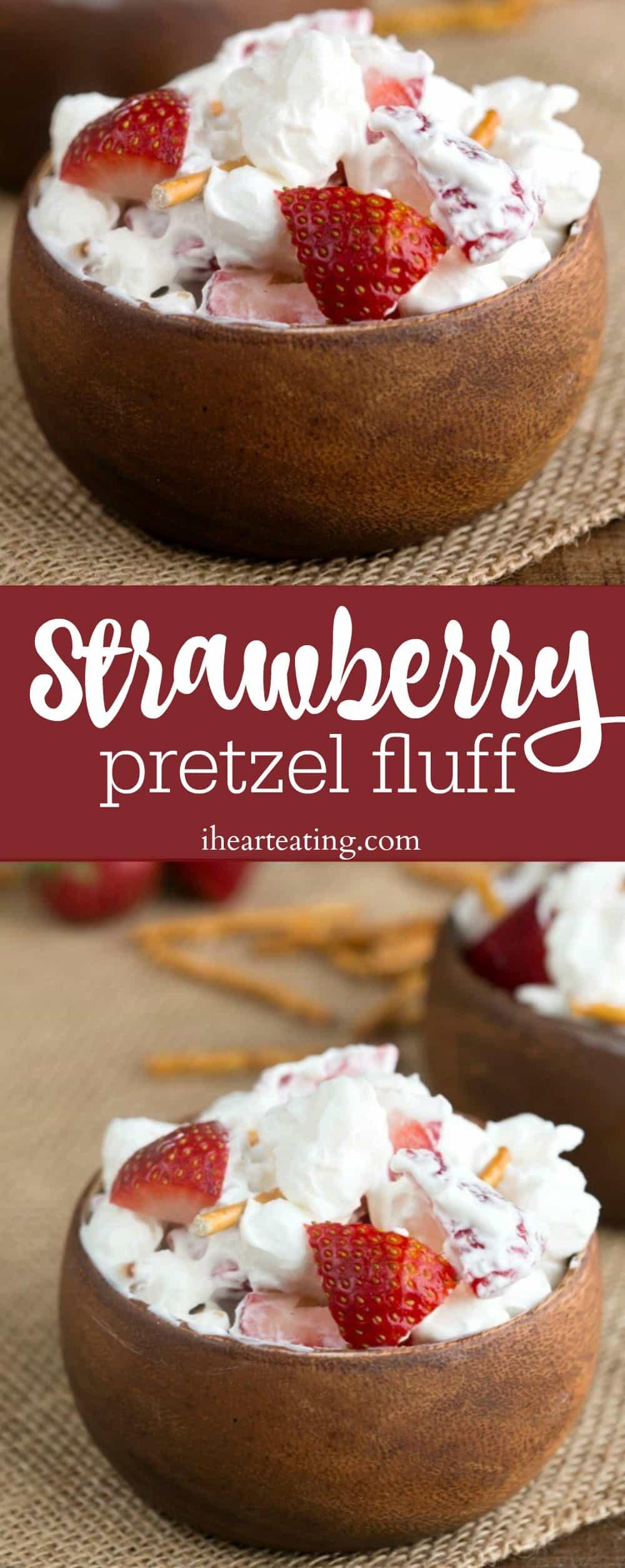 Strawberry Pretzel Fluff Recipe