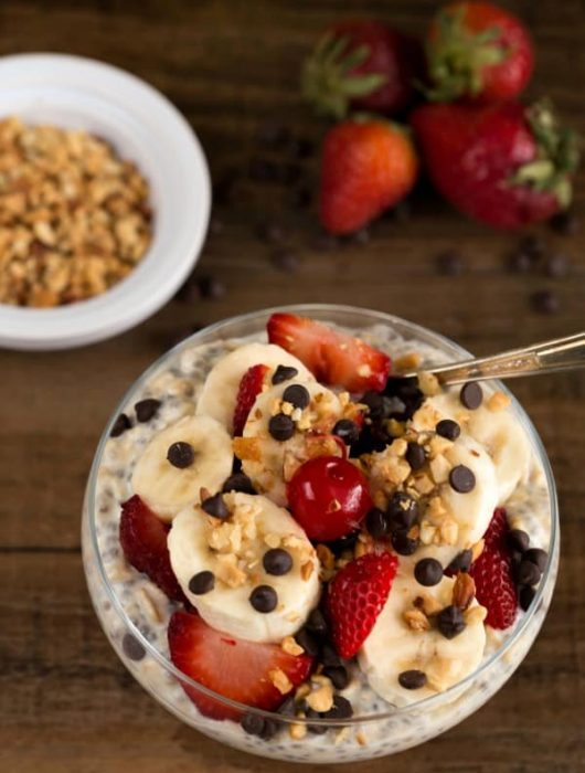 Banana Split Overnight Oats