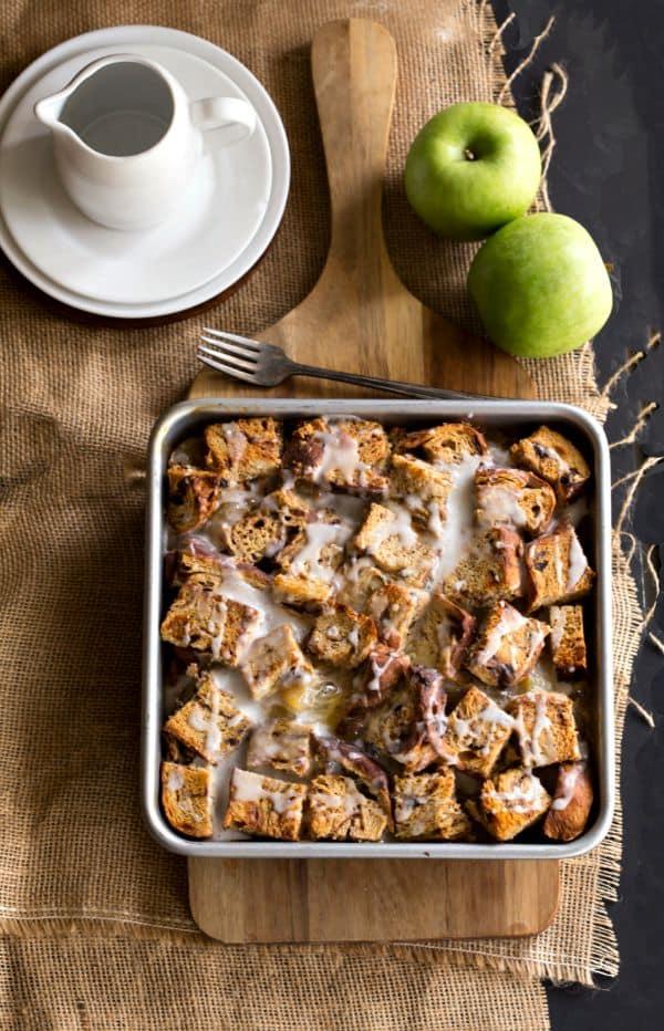 Overnight Apple Fritter French Toast Casserole