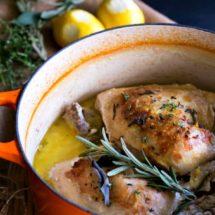 Roast Chicken in Milk