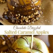 Chocolate-Drizzled Salted Caramel Apples