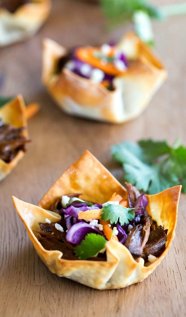 Slow Cooker Korean BBQ Taco Cup