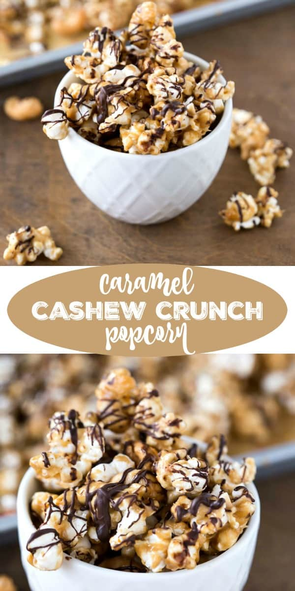 Caramel Cashew Crunch Popcorn
