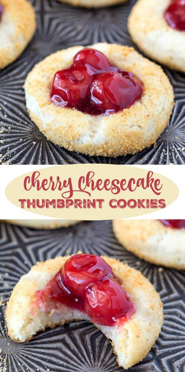 Cherry Cheesecake Thumbprint Cookies