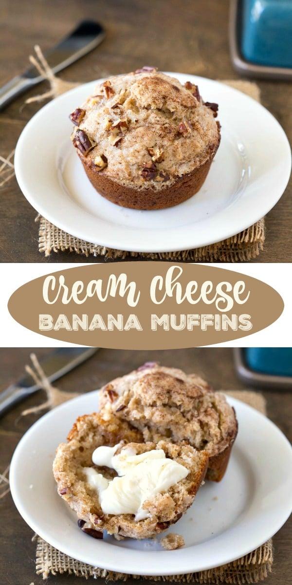 Cream Cheese Banana Muffin Recipe