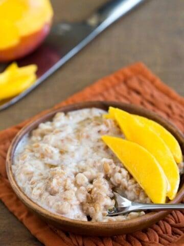Coconut Mango Breakfast Farro