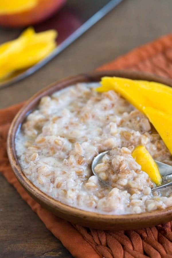 Coconut Mango Breakfast Farro
