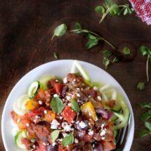 Greek Zoodles Recipe