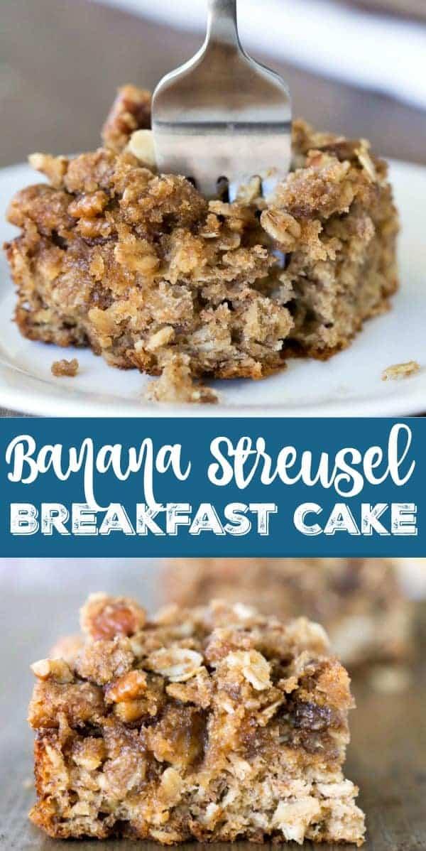Banana Streusel Breakfast Cake Recipe