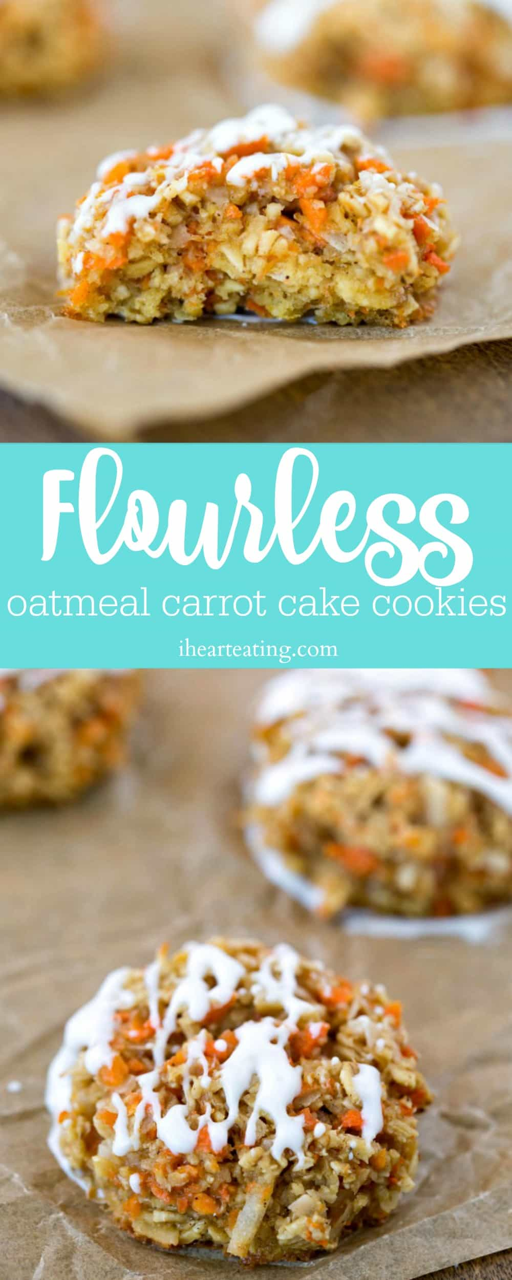Flourless Oatmeal Carrot Cake Cookie Recipe