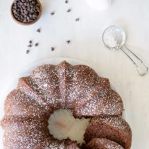 Chocolate Buttermilk Bundt Cake Recipe - Moist chocolate bundt cake that has only 4 WW Plus Points per serving!
