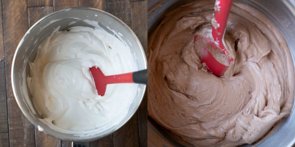 Whipped cream for chocolate mousse