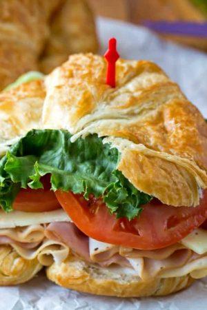 California Club Croissant Sandwich
