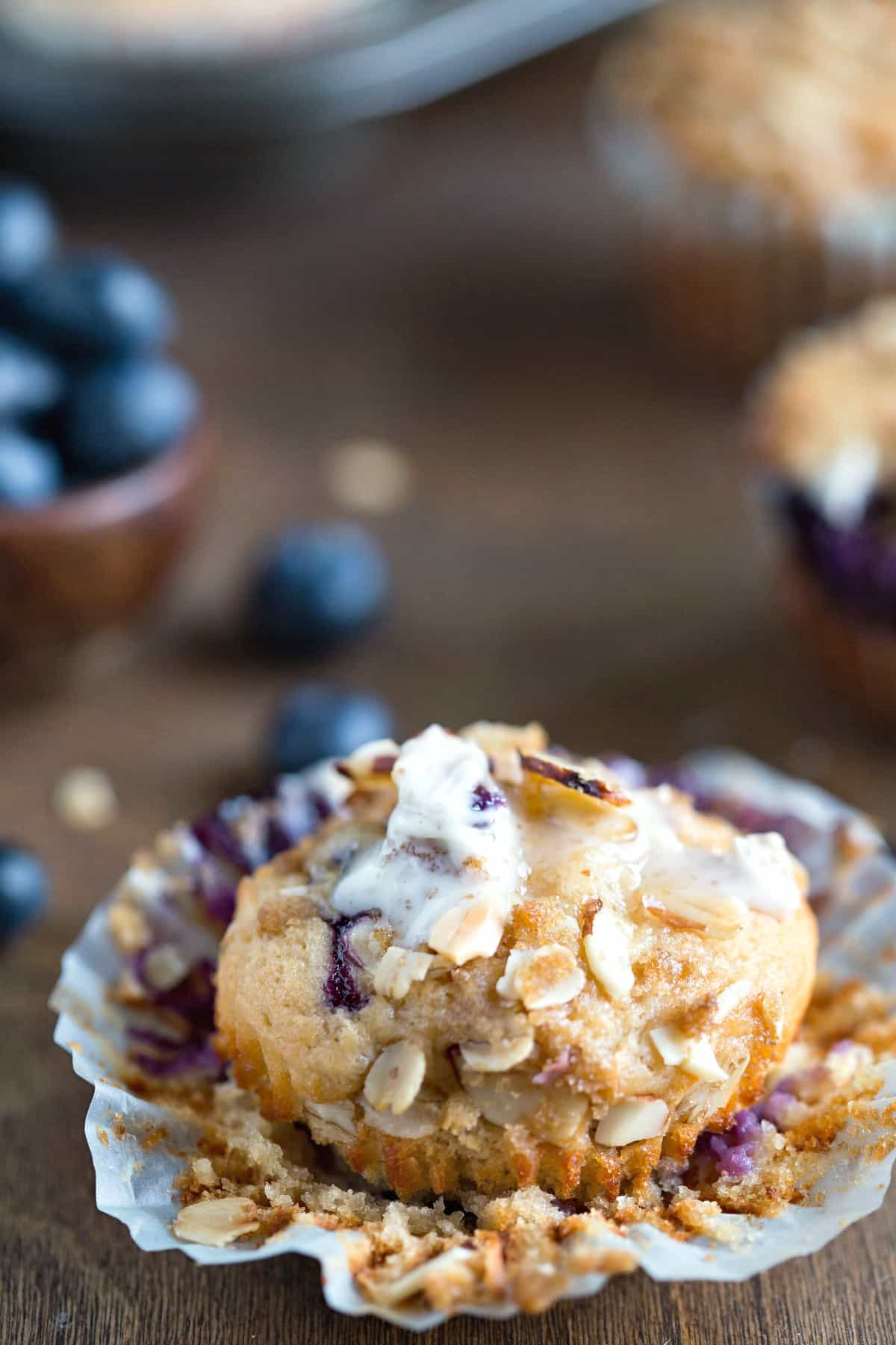 Greek Yogurt Blueberry Muffins - i Heart Eating