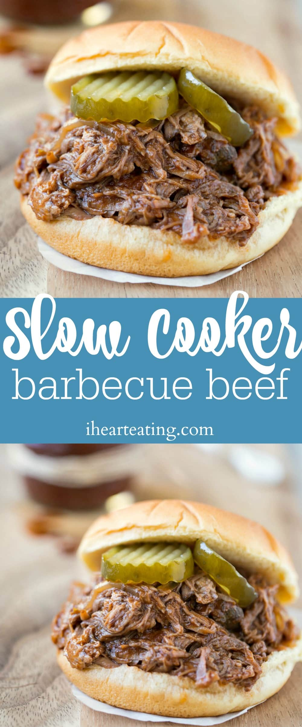 Slow Cooker Barbecue Beef - I Heart Eating