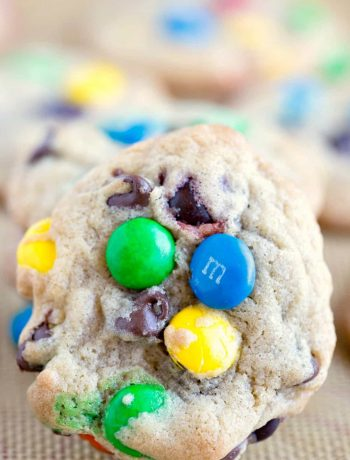 Bakery Style M&M Chocolate Chip Cookies