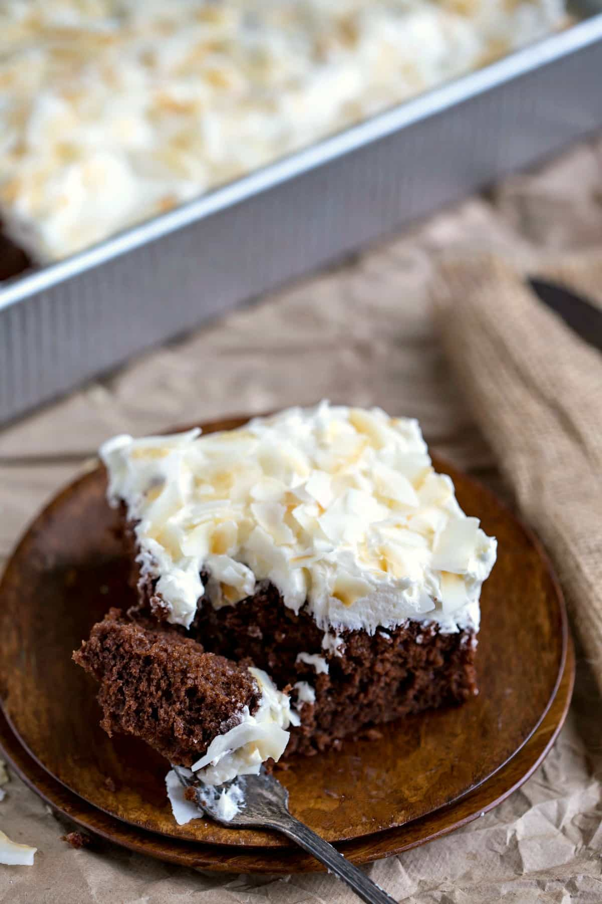 Chocolate Coconut Sheet Cake Recipe