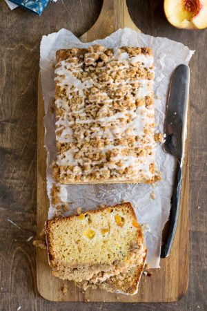 Peach Cobbler Loaf Cake Recipe