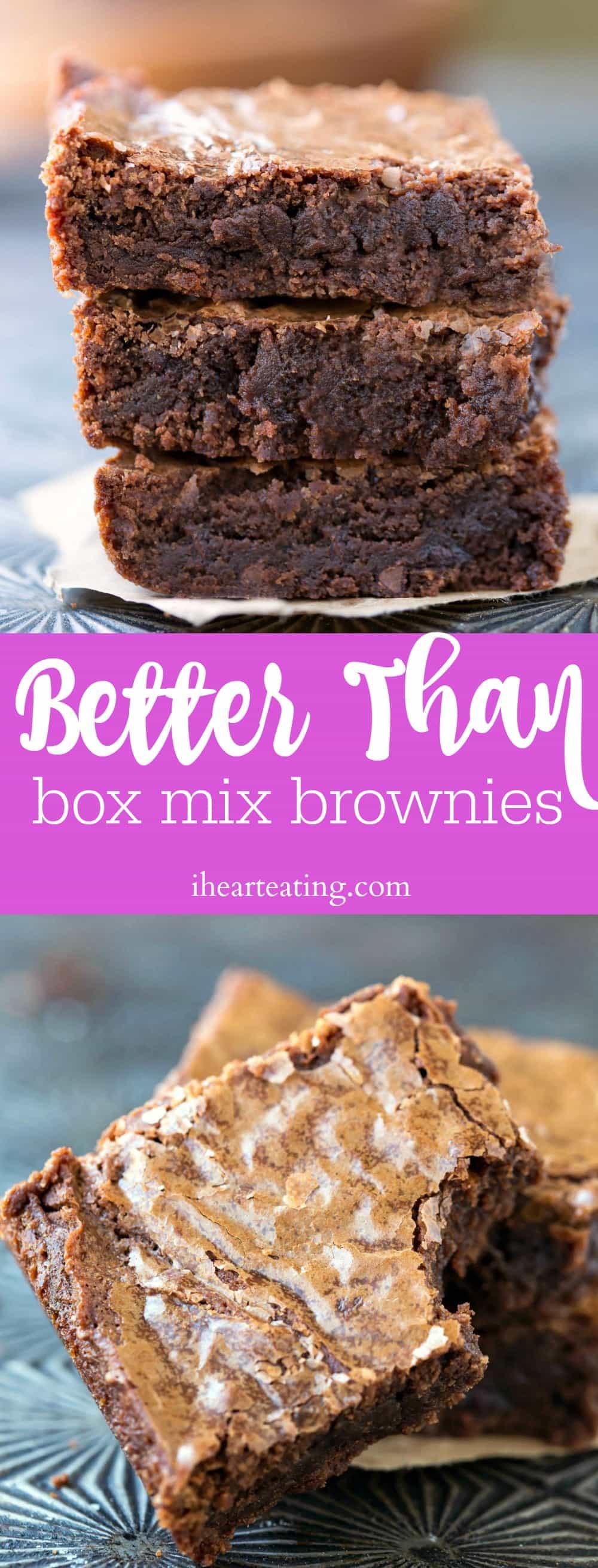 Better Than Box Mix Brownies