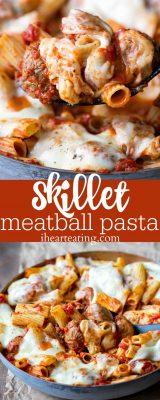 Skillet Meatball Pasta Recipe