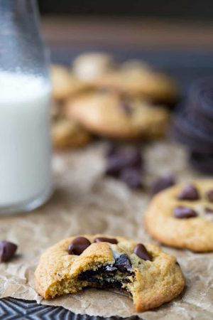 Chewy Pumpkin Chocolate Chip Oreo Cookies