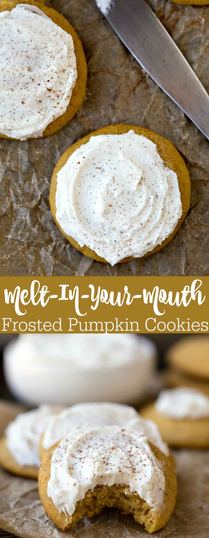 Melt-In-Your-Mouth Frosted Pumpkin Cookie Recipe
