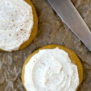 Melt-In-Your-Mouth Frosted Pumpkin Cookies