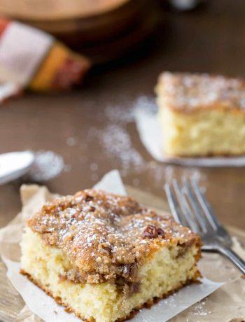 Cinnamon Streusel Sour Cream Coffee Cake